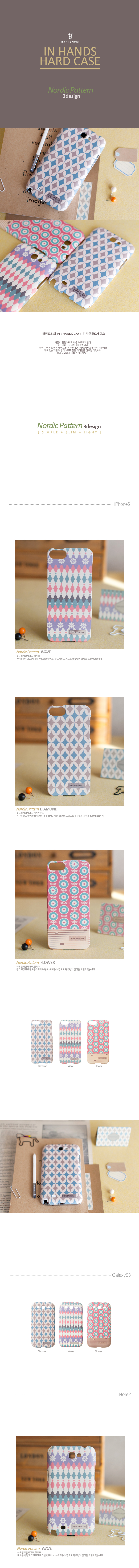 [HAPPYMORI] Hard Case_Doily NordicPattern 3Design (iPhone6Plus,Galaxy Note2,Galaxy Note3,Galaxy Note4)